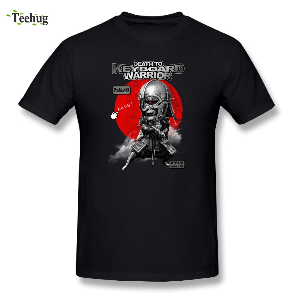 Novelty Male Keyboard Warrior T-Shirt O-neck For Man Funny Design Tees