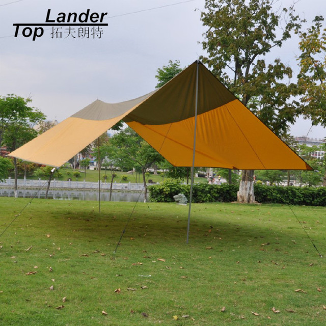 Outdoor C&ing Tarp Tent Shelter Super Large Beach Picnic Garden Event Sun Shade Canopy Awning with & Outdoor Camping Tarp Tent Shelter Super Large Beach Picnic Garden ...