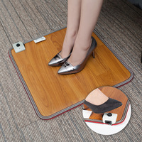 Feet Warmer Heated Foot Mat Electric Foot Warmers Thermostat Warmer Office Winter Warm Heating Pad Switch