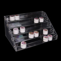 New 5 Layer Nail Polish Rack Acrylic Makeup Lipstick Jewelry Display Stand Holder Nail Polish Clear Display Cosmetic Organizer