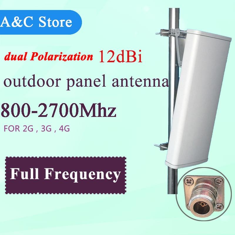 2G 3G 4G-LTE antenne cellulaire 12dB double polarisation antenne wcdma dcs GSM panneau antenne MIMO antenne pour AP secteur n-femelle