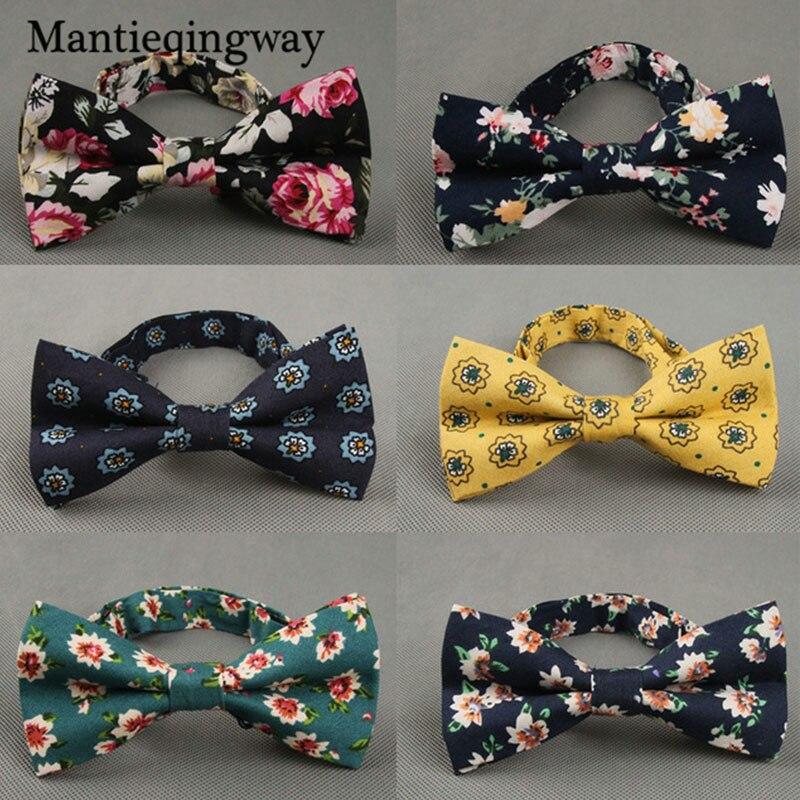 Bekleidung Zubehör Mantieqingway Vintage-mode Männer Nehmen Prirted Bogen Krawatten Für Männer Anzug Dünne Floral Fliege Cravats