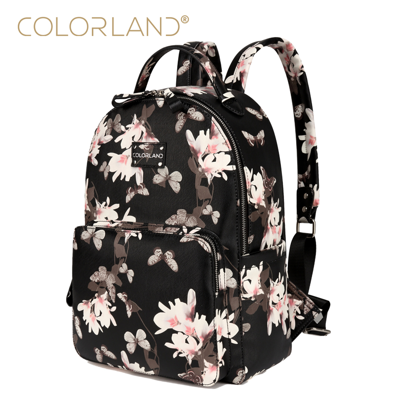 COLORLAND Designer Baby Diaper Bags for Mom Large Capacity Nappy Maternity Bag Backpack Baby Care Bag for Stroller BP140