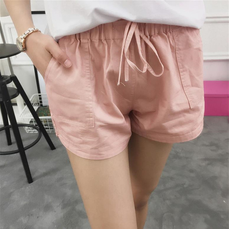 New summer multiple Colors women shorts casual style ladies shorts hot sale Cotton female shorts Big pocket