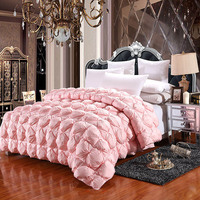 FangHua High grade Luxury 100% White Goose Down Duvets Winter Thickening Comforter 100% Cotton Cover King Queen Twin Full Size