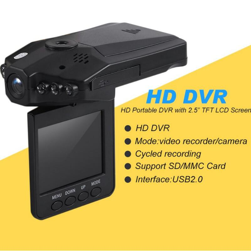 Newest 90 Degrees 2.5 Inch Full HD 1080P Car DVR Vehicle Camera Video Recorder Dash Cam Infra-Red Night Vision Hot