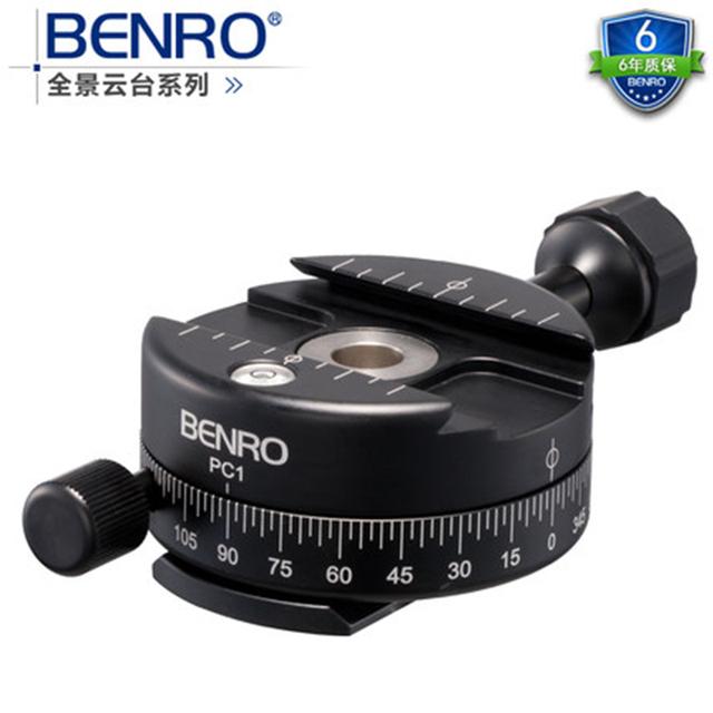 BENRO PC0 PC1 Ação Câmera Cabeça do Tripé Panorâmica Cabeça Para Monopé Smartphones Berno Tripé PTZ Precisão Extensão de Alumínio Knob