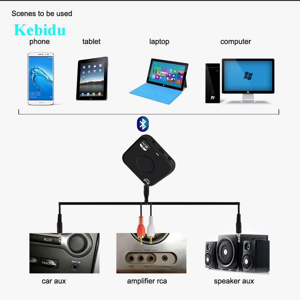 Kebidu Neueste Bluetooth 4,2 Empfänger Aptx-ll Drahtlose Aptx Niedrige Latenz 3,5mm Aux Bluetooth Audio Musik Adapter Für Auto Lautsprecher Tragbares Audio & Video Unterhaltungselektronik