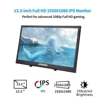13.3 inch 2K 2560x1440 Portable Computer Monitor PC HDMI PS3 PS4 Xbo X360 IPS LCD LED Display for Raspberry Pi Wins 7 8 10 +Case 1