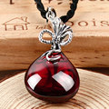 Retro Synthetic Gemstones 925 sterling silver jewelry charm Pendant necklace women purse bag ruby sapphire-jewelry