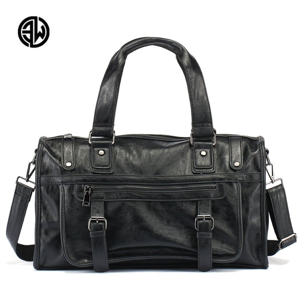 ETONWEAG Men Split Leather Travel Duffle Men Travel Bag Big Capacity Vintage Field Activity Weekend bag Travel Handbags