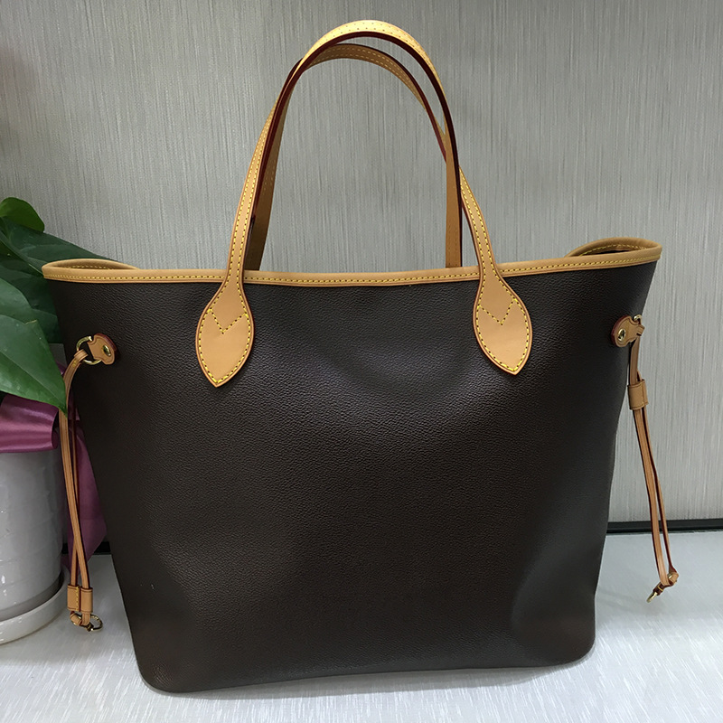 Free shipping DHL top quality leather Lady s Shopping Bag women shipping bags composite bag