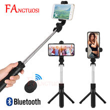 Fangtuosi Baru 3-In-1 Nirkabel Bluetooth Selfie Stick Foldable Handheld Monopod Mini Tripod dengan Shutter Remote untuk iPhone(China)