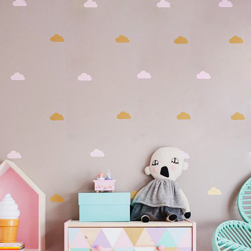 Nube pequeña pegatinas de pared tatuajes de pared diy decoración - Decoración del hogar - foto 4