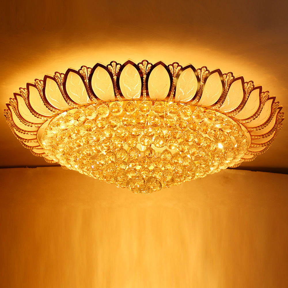 Ceiling Light LED Gold Crystal Ceiling Lamp 110-220v Home Lighting Crystal Lighting Modern Luxury Crystal Ceiling Lamp hot sales modern crystal ceiling light lamp fashion ceiling lighting decoration lamp holiday lamp for lobby