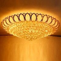 Ceiling Light LED Gold Crystal Ceiling Lamp 110 220v Home Lighting Crystal Lighting Modern Luxury Crystal Ceiling Lamp