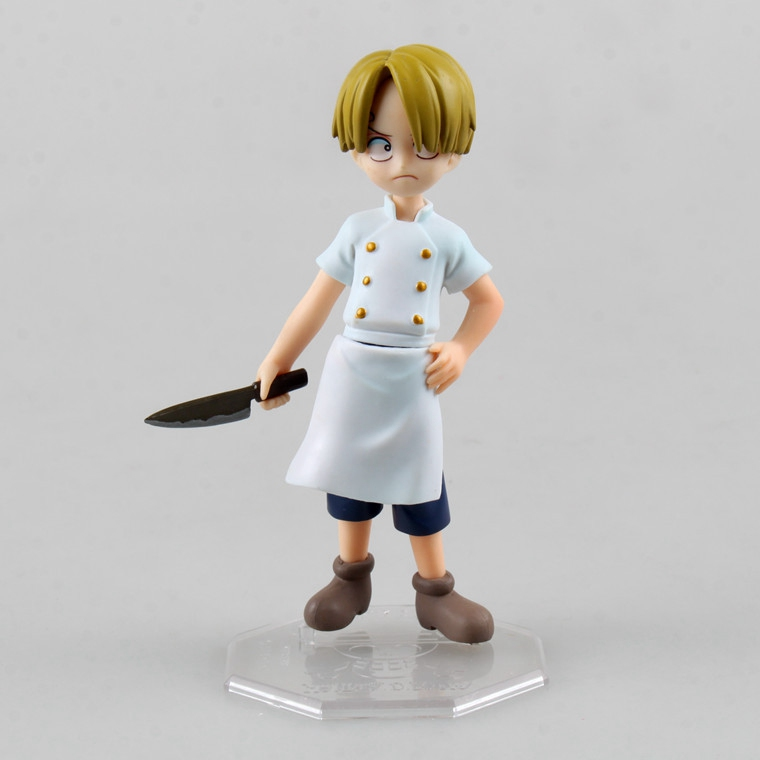 1 Pcs Anime One Piece POP Sanji Chef Cooking Knife Childhood Ver. 12 CM PVC Action Figure Collectible Model Toy For Kids Child genuine megahouse p o p portrait of pirates excellent model limited one piece nefeltari vivi ver bb collection figure