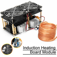 1800W ZVS Stable Low Voltage DIY Durable PCB Induction Heating Board Coil Dual Fans High Frequency Module Plate Convenient Black