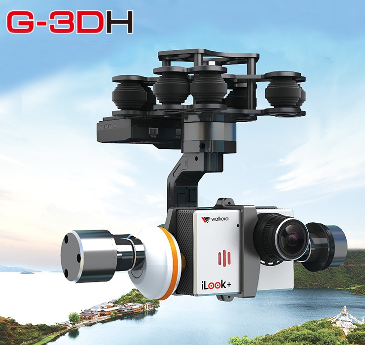 Original Walkera G-3DH Brushless Camera Gimbal With 360 Degrees Tilt Control for iLook Gopro 3 walkera g 2d camera gimbal for ilook ilook gopro 3 plastic version
