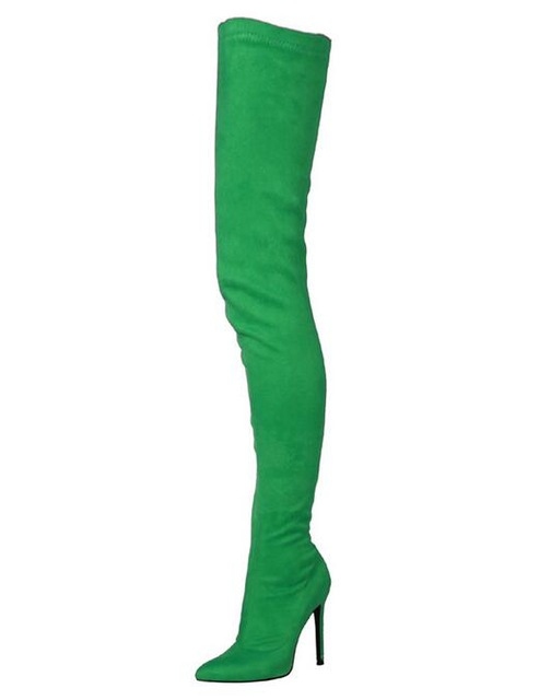 Plus-Size-12-Black-Green-Suede-OverThe-Knee-Boots-Womens-Pointed-Toe-10CM-Tight-High-Shoes.jpg_640x640