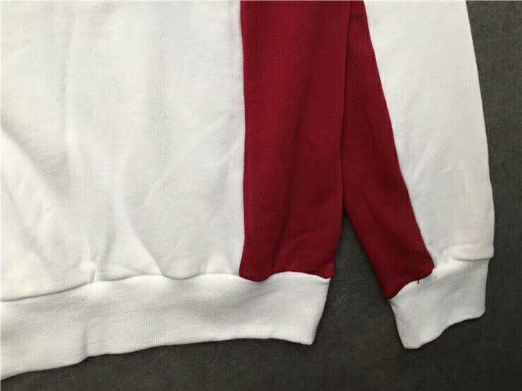 2018SS meilleure version blanc rouge bleu épissure hommes femmes pull à capuche Hip Hop kanye vêtements mode pulls décontractés S-XXL - 4