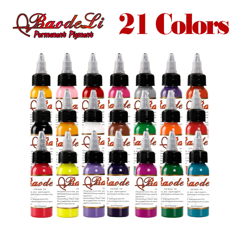 21bottl Natural Plant Tattoo Pigment Permanent Makeup 30ML Bottle Tattoos Ink Pigment For Body Professional Beauty Art Supplies 21bottl Natural Plant Tattoo Pigment Permanent Makeup 30ML Bottle Tattoos Ink Pigment For Body Professional Beauty Art Supplies