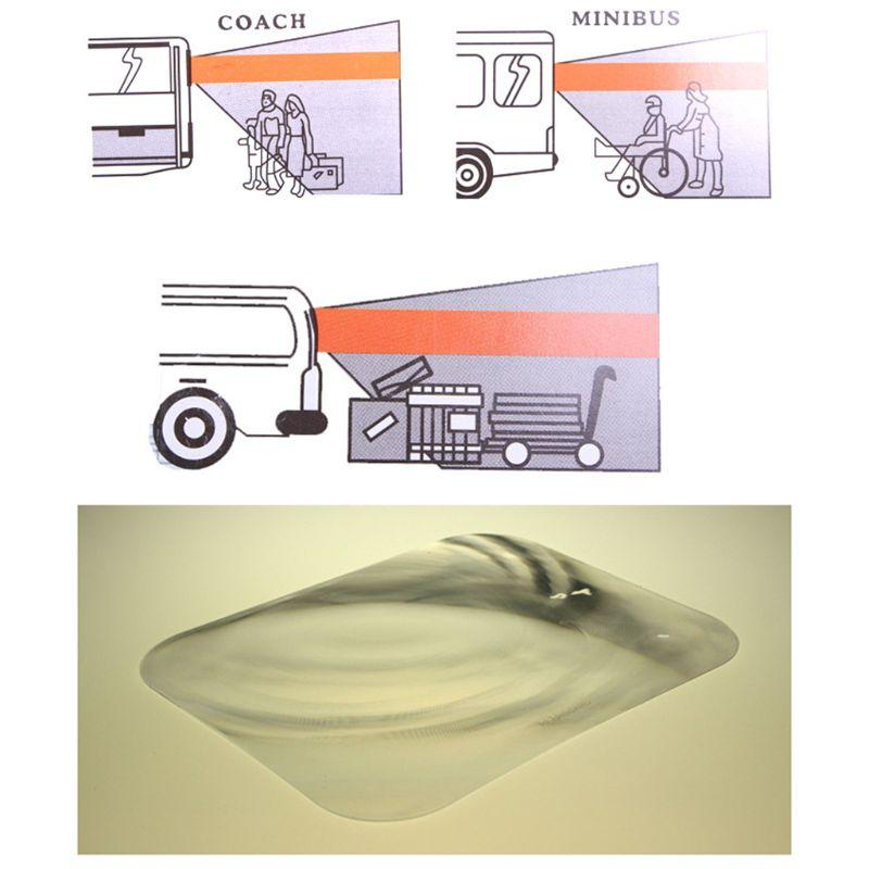 Wide Angle Fresnel Lens Car Parking Reversing Sticker Useful Enlarge View