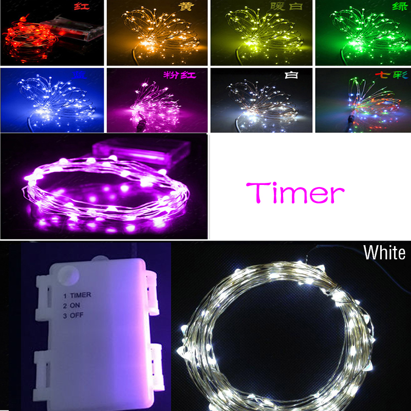 white 3m 30 led 3aa battery powered outdoor timer led. Black Bedroom Furniture Sets. Home Design Ideas