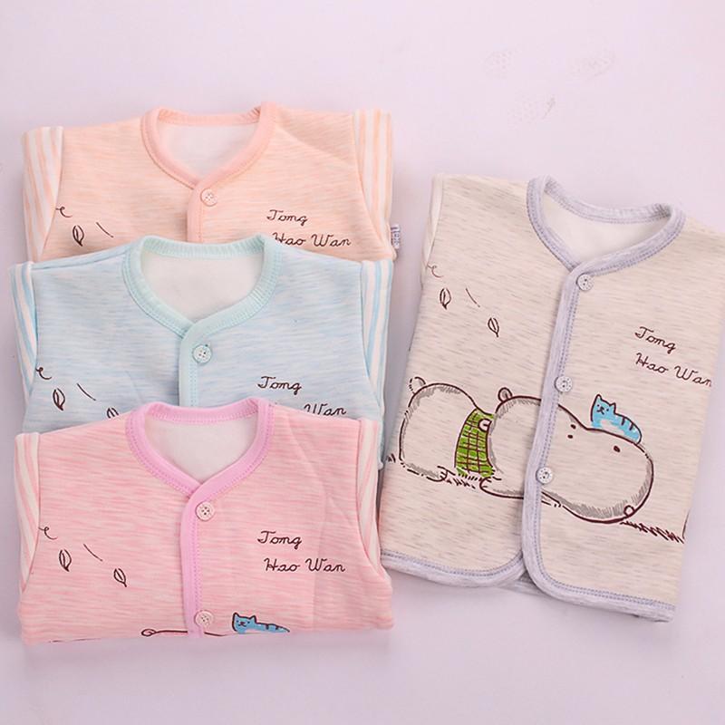 2PCS Winter Newborn Set Cartoon Hippo Girl Boys Clothes Long Sleeve Unisex Suit Baby Top+Pants Sets Candy Color Infant Underwear (1)