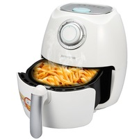 WUXEY Electric Deep Air Fryer White 2.5L Fryer with Dimensional Hot Air Cycle Heating Timing Temperature Control Homemade KFC