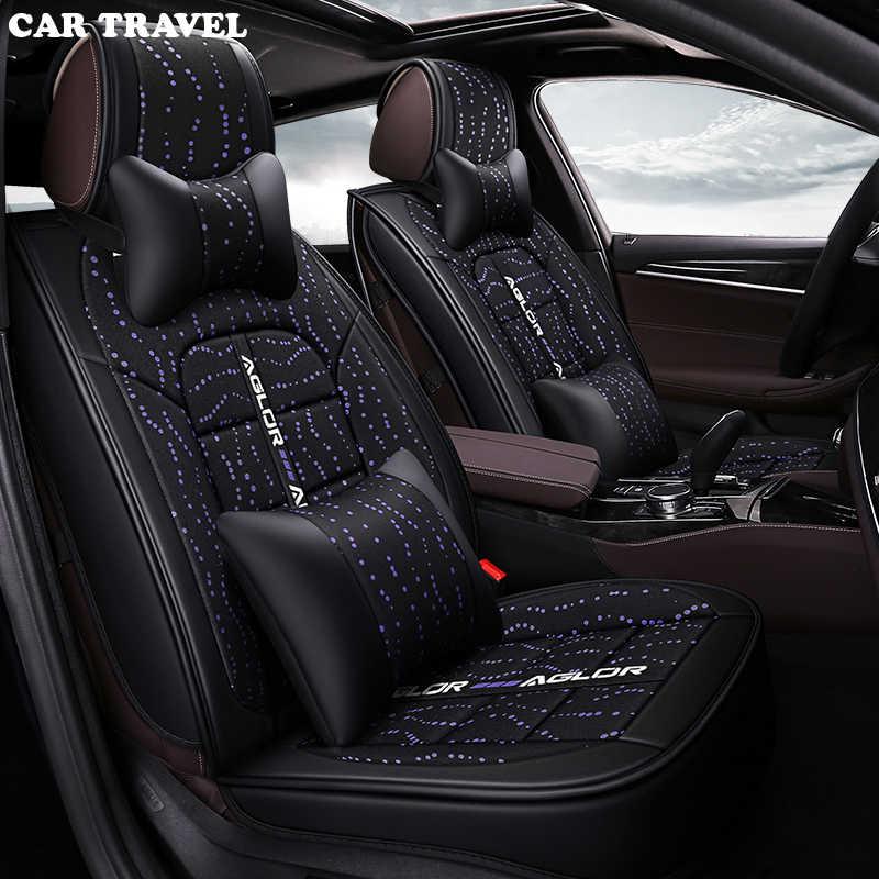 Автомобильные дорожные льняные универсальные чехлы для автомобильных сидений для Honda все модели civic accord подходит для CRV XRV Odyssey Jazz City vezel crosstour