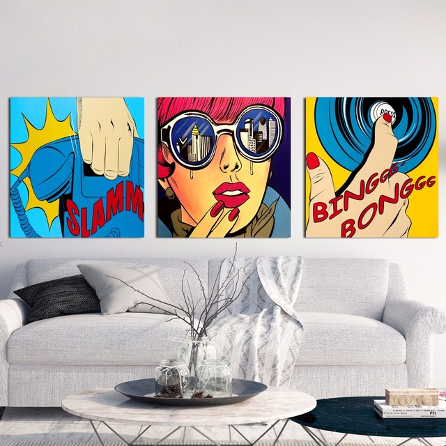 Pop Art Phone And Ring Canvas Art Print Painting Poster Wall ...