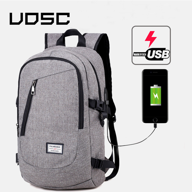 UOSC Fashion Man Laptop Backpack Usb Charging Computer Backpacks Casual Style Bags Large Male Business Travel Bag Backpack