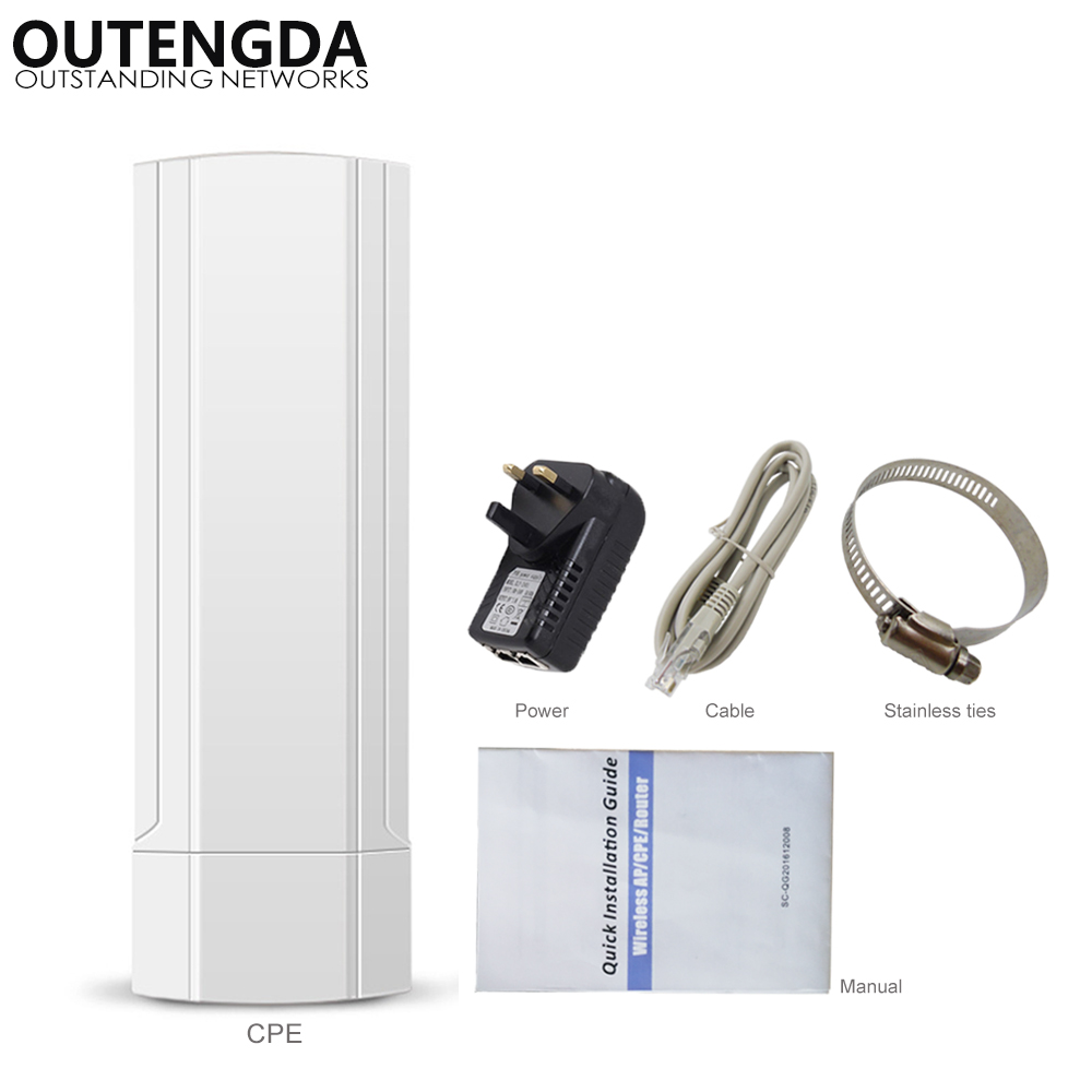 3KM 2.4GHz 300Mbps Outdoor CPE AP WiFi Router Wireless Repeater Access Point Wi-fi Extender Smart PTP Digital Display CPE Bridge