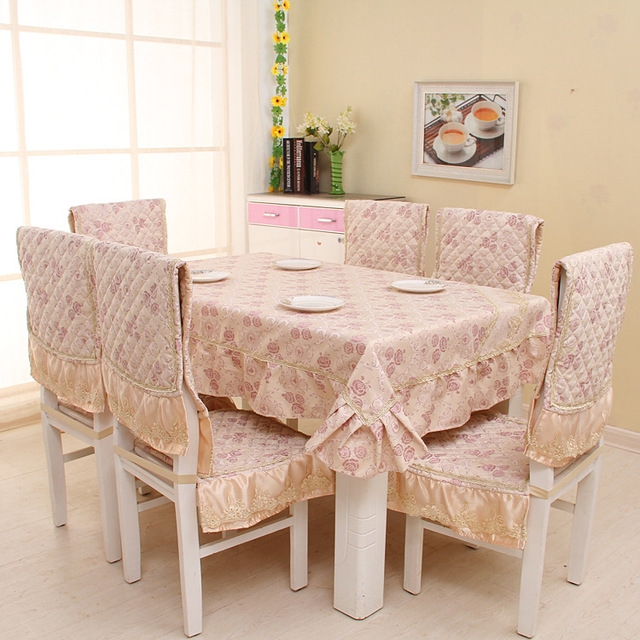 Eat Chair Cushion/chair Cover/antependium Suits, European Aristocrat Series  Printed Table Cloth