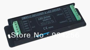 Factory Price!!! Free shipping 4Channel rgb controller DMX512 Decoder with dial switch function dmx controller
