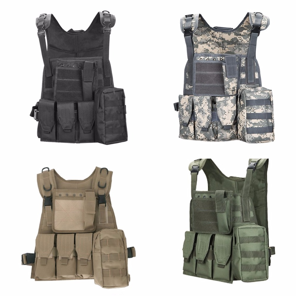 Hunting Military Tactical Vest Camouflage Body Molle Armor Outdoor Combat Wargame Waistcoat Army Swat CS Jungle Equipment Police