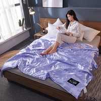 Comfortable 100% Silk Comforter Blanket Quilt Duvet Washable Ice Silk Summer Air Conditioning Comforter Quilt Blanket