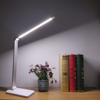 LIGINWAAT 52 LEDs Desk Lamp 3 Color Modes 10 Dimable Levels Touch 2000mAh USB Chargeable Reading Eye Protect LED Table Light