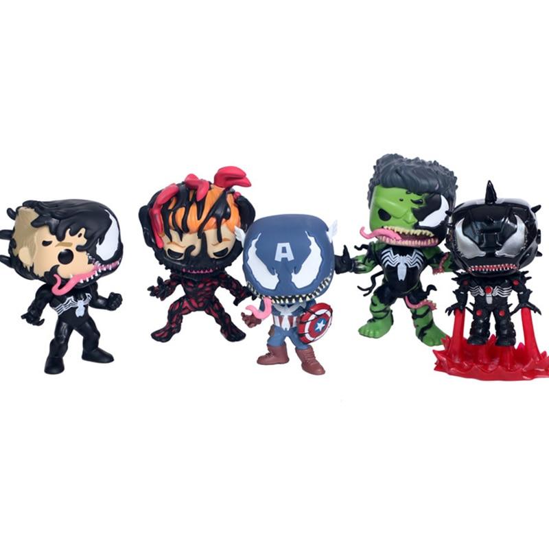 11cm-action-font-b-avengers-b-font-4-amine-figure-venom-captain-america-iron-man-hulk-carnage-model-collection-toy-gift-for-adult-children