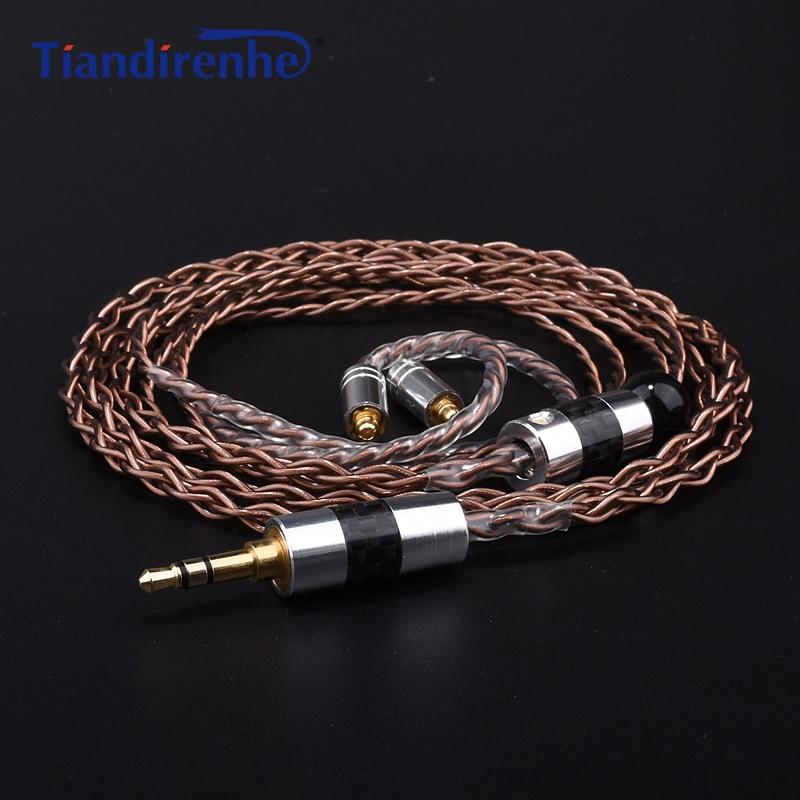 DIY MMCX Cable for Shure SE215 SE535 SE846 Earphone Custom Single Crystal Copper Headphone Wire for iPhone xiaomi Android IOS furukawa 5n single crystal copper wire diy hifi headphone 150ohm pk1 unit