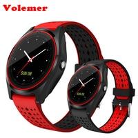 Volemer Bluetooth Smart Watch V9 With Camera Smartwatch Pedometer Health Sport Clock Hours Men Women Smartwatch