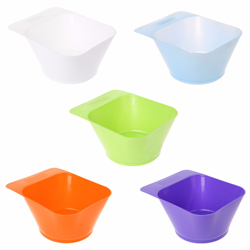 280ML Hairdressing Dye Color Bowl Coloring Tint Mixing Bleach Tool For Salon 5 Color New