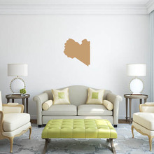 Libya map Globe Earth Country wall vinyl sticker custom made home decoration fashion design