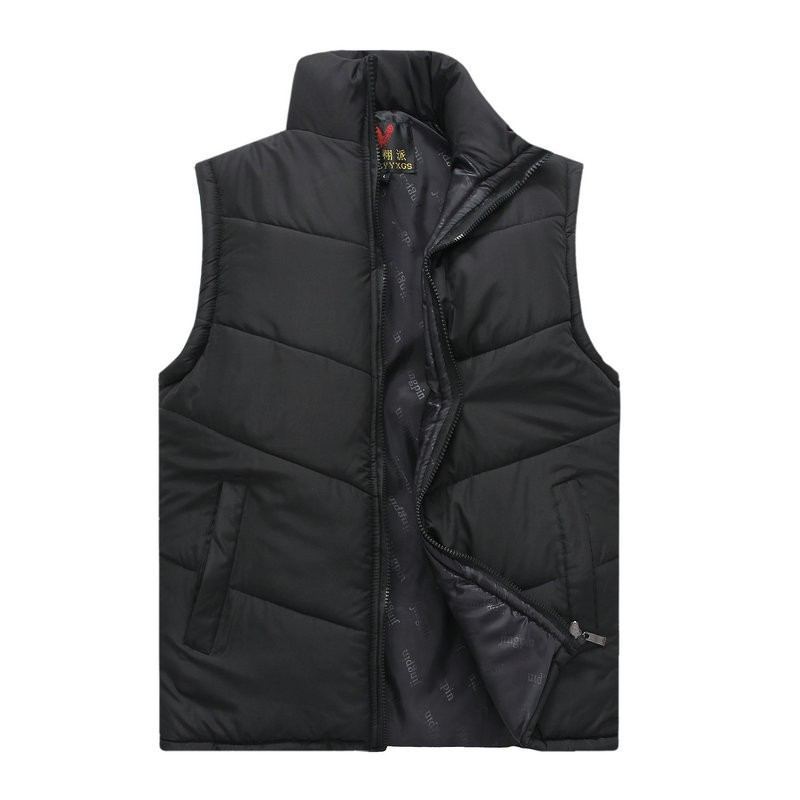 Spring Autumn Stylish Casual Mens Puffer Vest Coats Man Red Dark Blue Gray Black Warm Wadded Sleeveless Jackets Male Stand Collat Waistcoat (13)