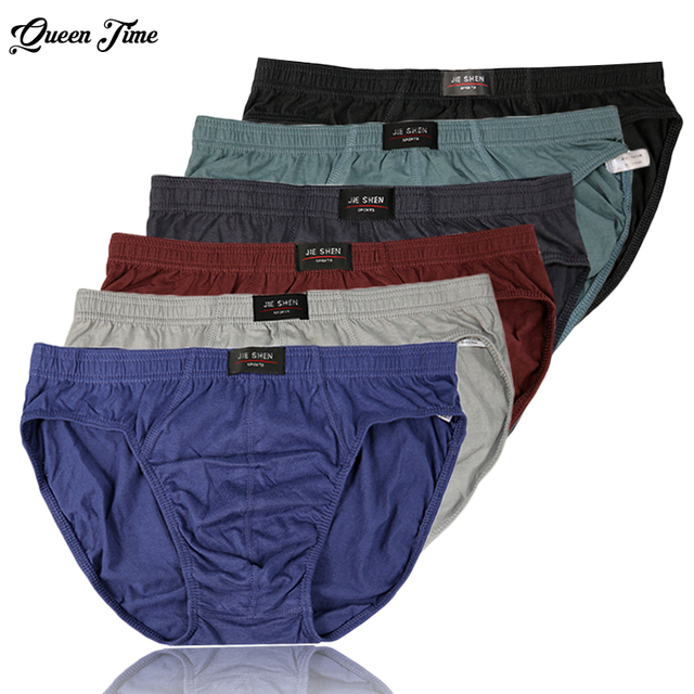 New arrival Solid Briefs Factory Direct Sale 4pcs / Lot Mens Brief Cotton Mens Bikini Underwear Pant For Men New Fashion