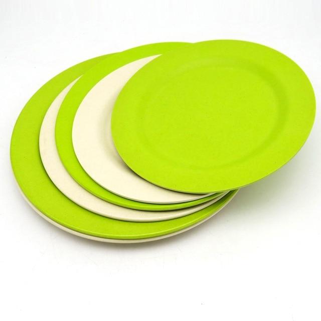 2pcs 22cm Environmental China dinner set kitchen food tray cake dinner plates dessert bamboo dishes  sc 1 st  AliExpress.com & 2pcs 22cm Environmental China dinner set kitchen food tray cake ...