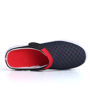 Image 3 - 2020 męskie sandały klapki Mesh oddychająca mężczyzna kobieta buty męskie Sandalias letnie buty Sandalen Sandalet duży rozmiar 46 47