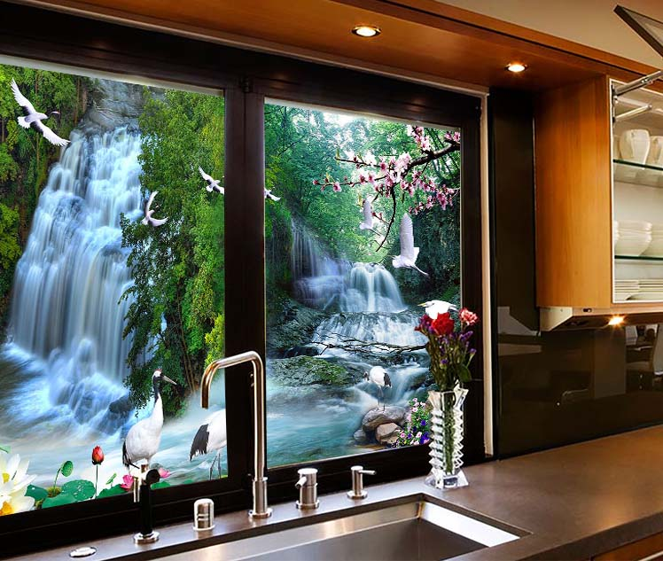 Customize Glass Window Film Wall Stickers Refrigerator
