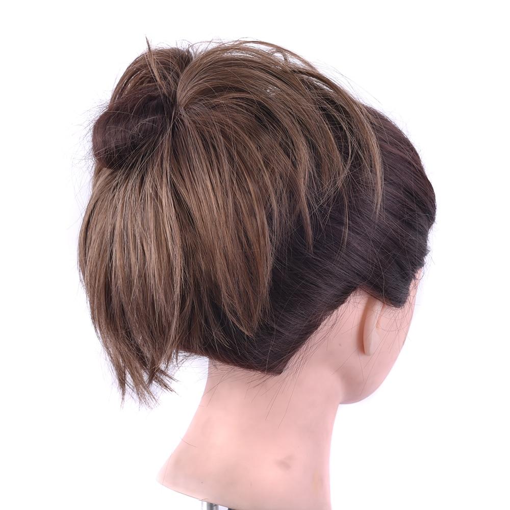 Soowee-coletero de pelo sintético, 10 colores, extensión de cabello